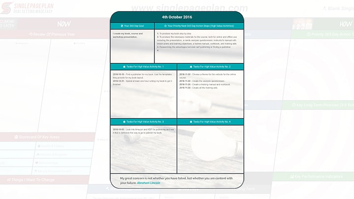 An Action Plan Template