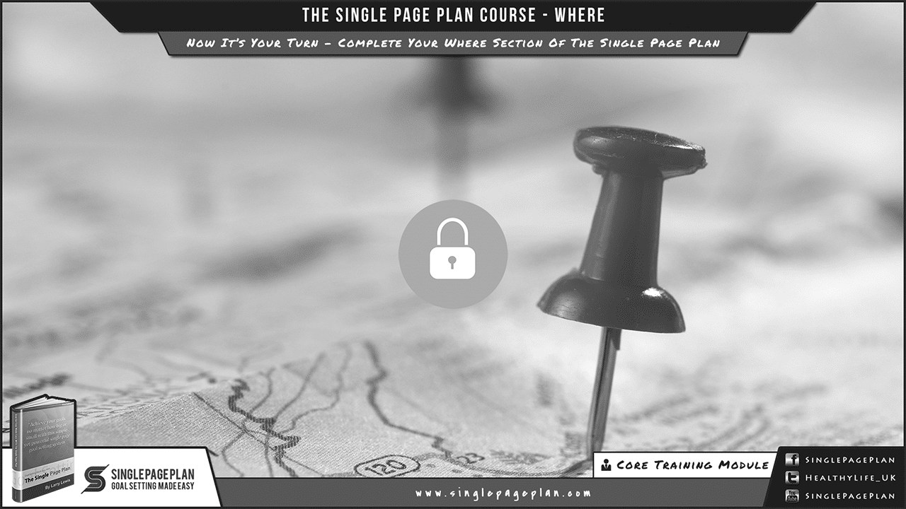 Complete Your Where Section Of The Single Page Plan