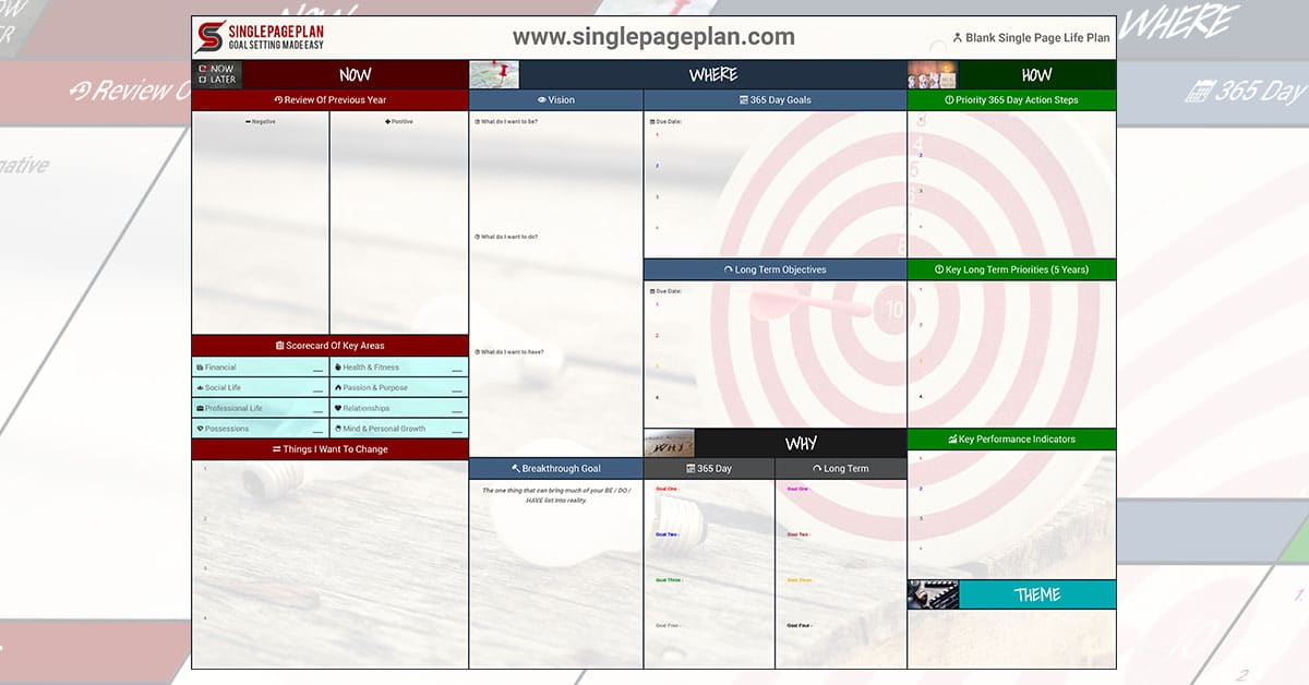 Online Single Page Plan